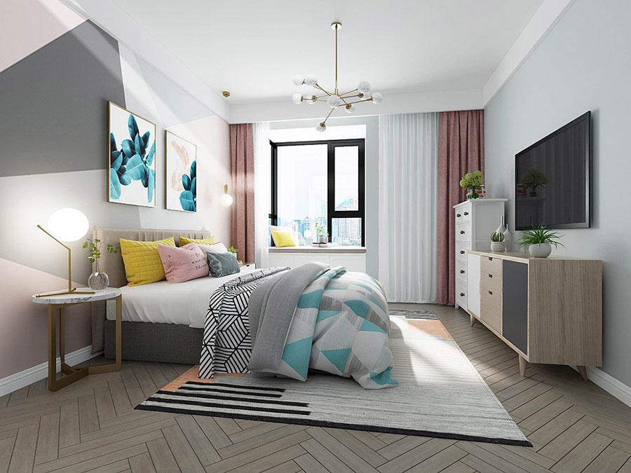 Camera da letto stile nordico n.28