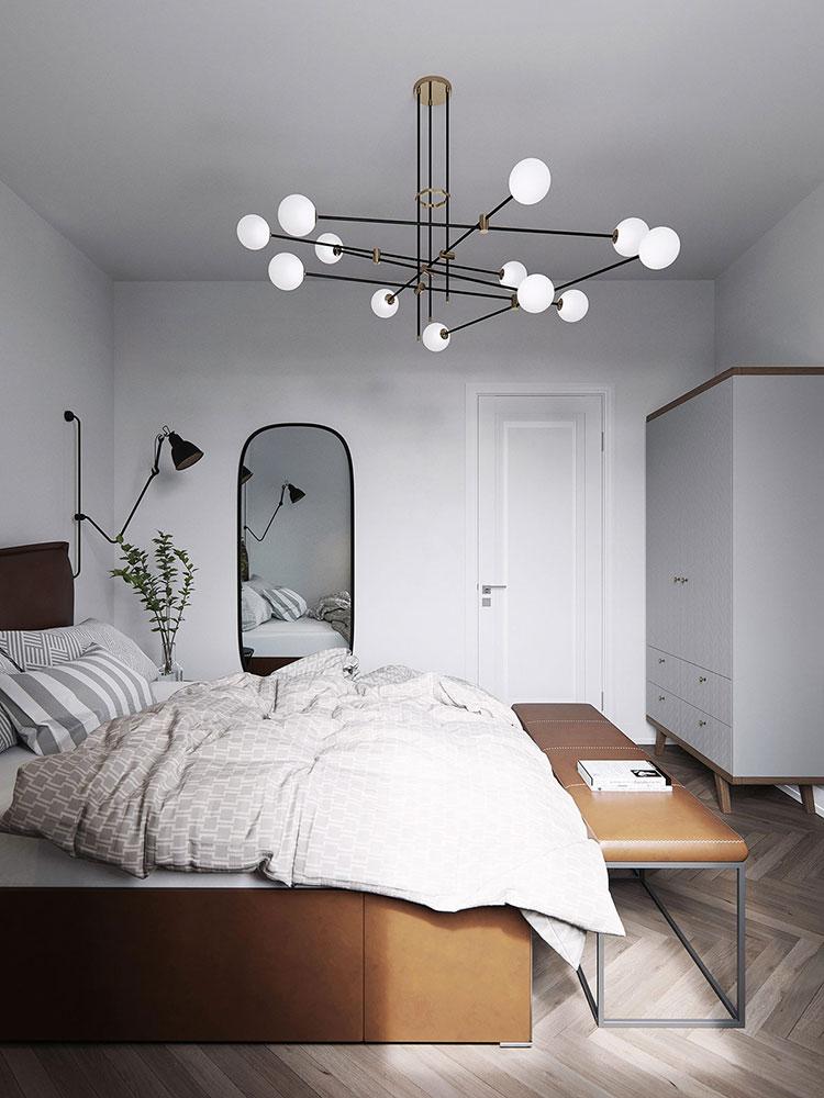 Camera da letto stile nordico n.29