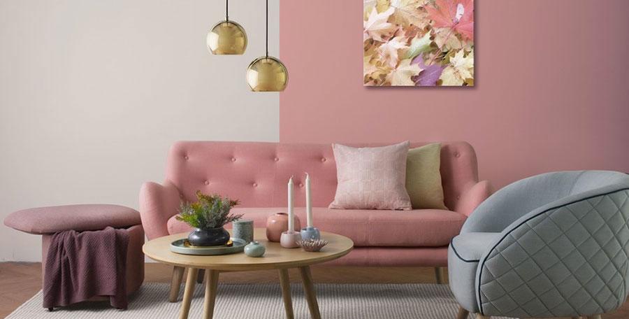 Arredi e pareti colore rosa antico