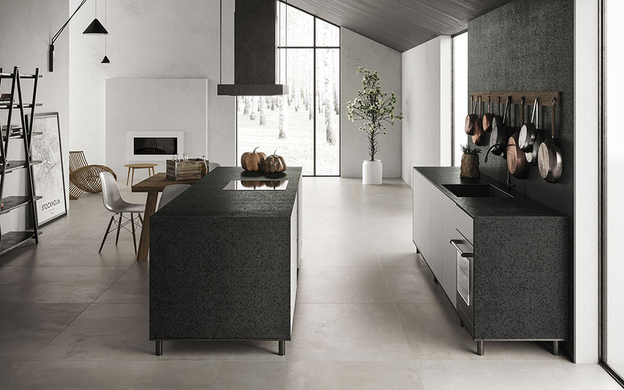 Cucina in gres effetto marmo n.02