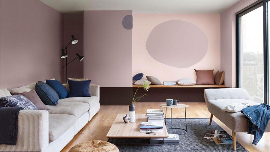 Colore pareti rosa antico e tortora