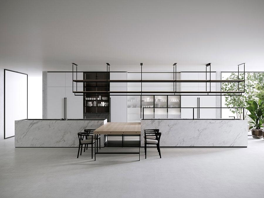 Piano cucina in marmo n.01
