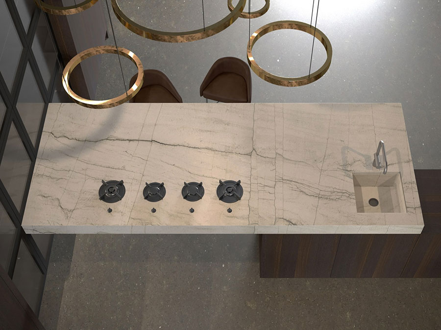 Piano cucina in marmo n.09