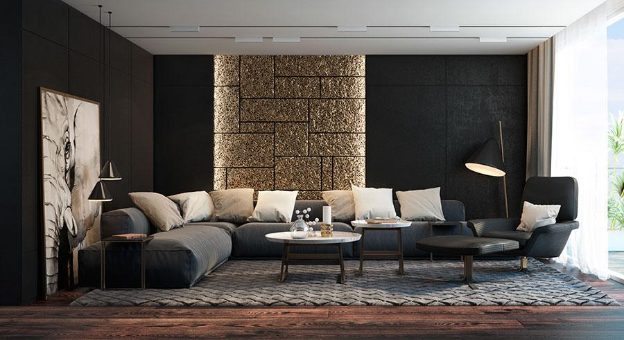 Rivestimenti di design per pareti del soggiorno n.32