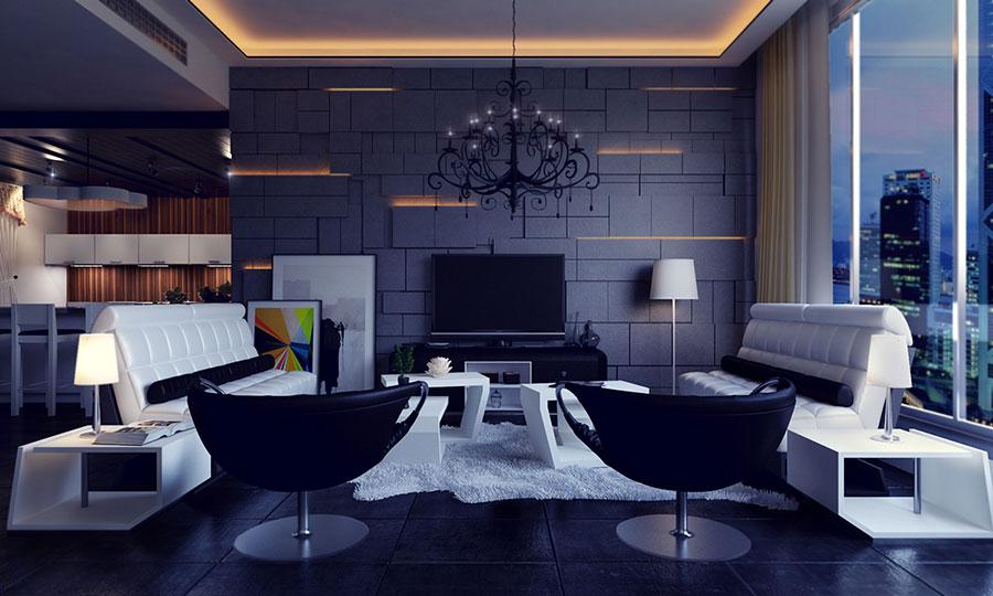 Rivestimenti di design per pareti del soggiorno n.33