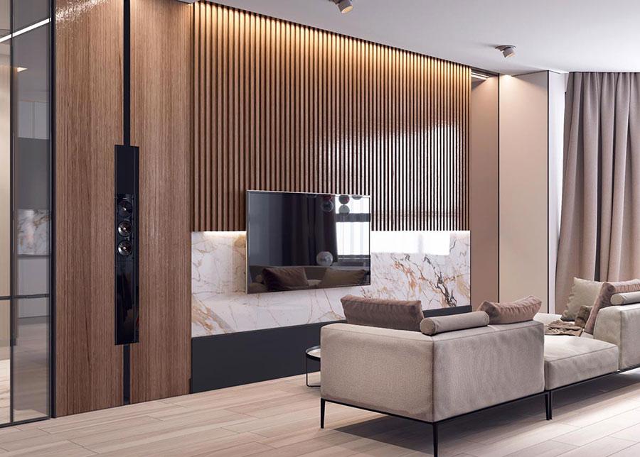 Rivestimenti di design per pareti del soggiorno n.38