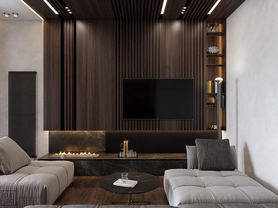 Rivestimenti di design per pareti del soggiorno n.39