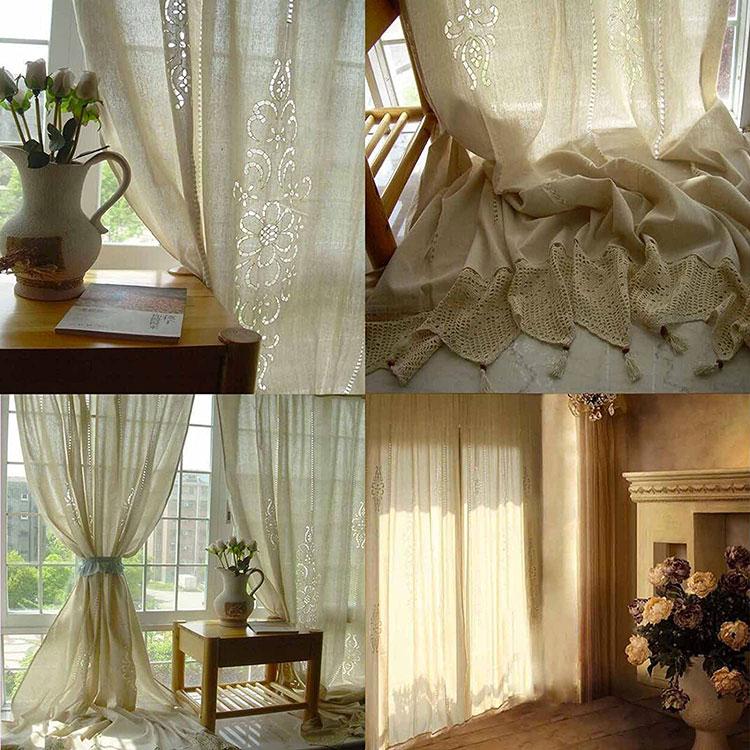 Modello di tende per sala da pranzo classica 02
