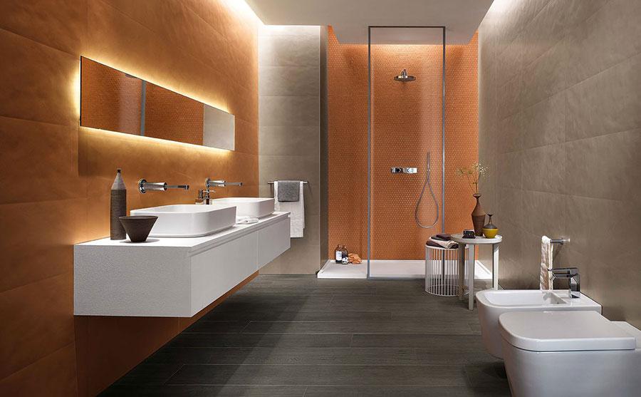 Rivestimenti per bagno arancione n.01