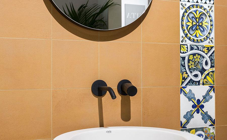 Rivestimenti per bagno arancione n.06