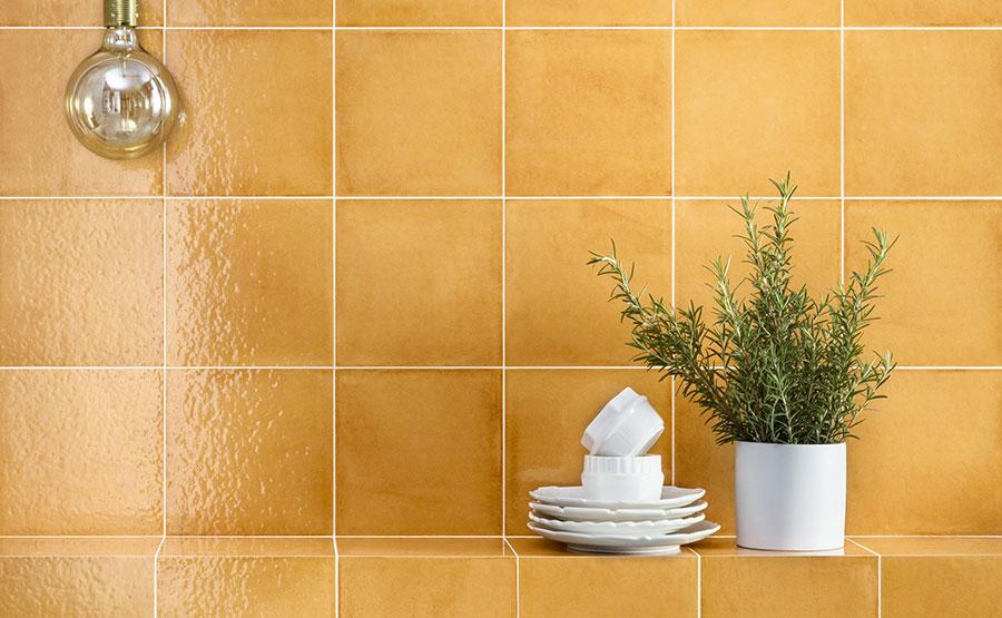 Rivestimenti per bagno arancione n.08
