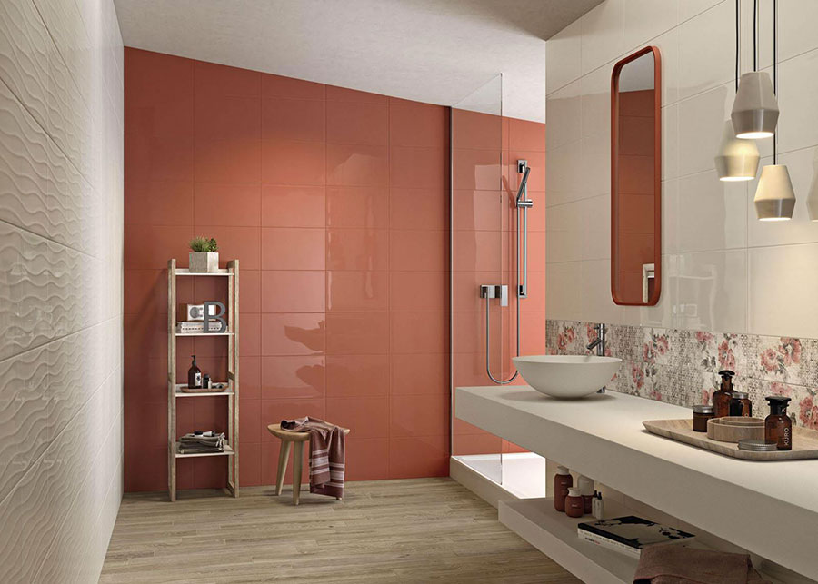 Rivestimenti per bagno arancione n.12