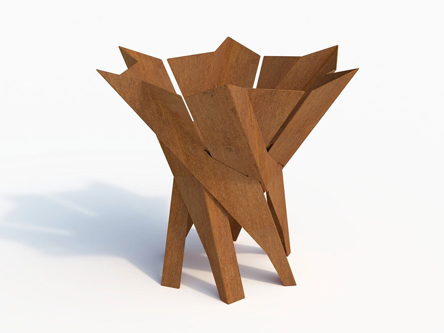Modello di braciere da esterno di design n.06