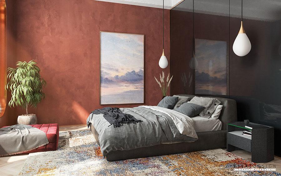 Camera da letto vintage moderna n.01