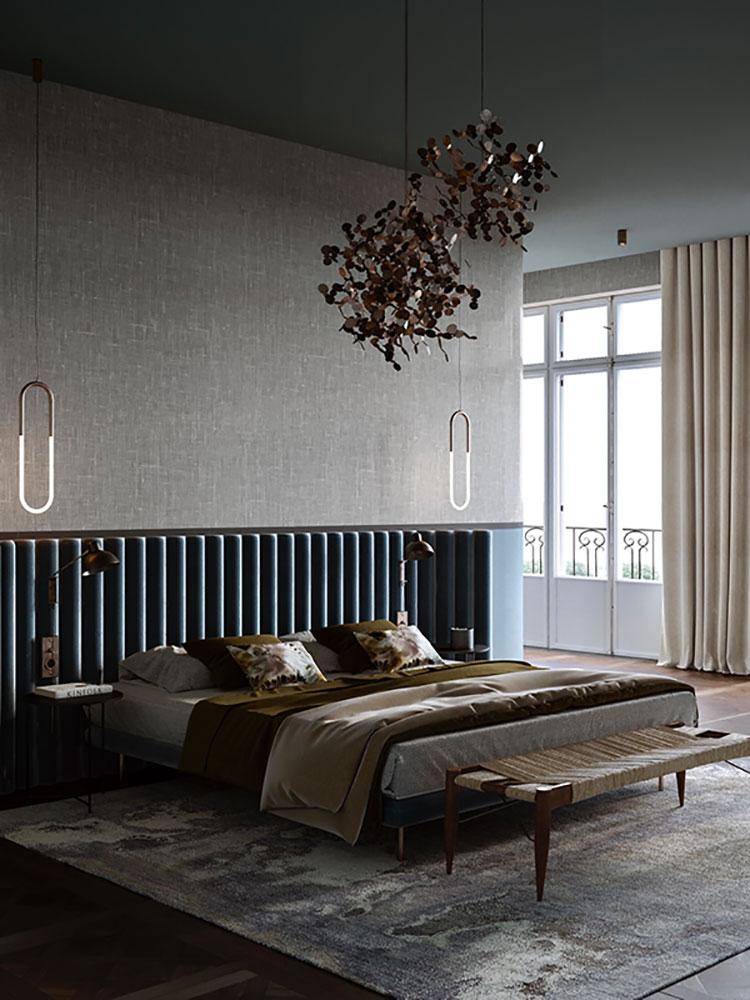 Camera da letto vintage moderna n.04
