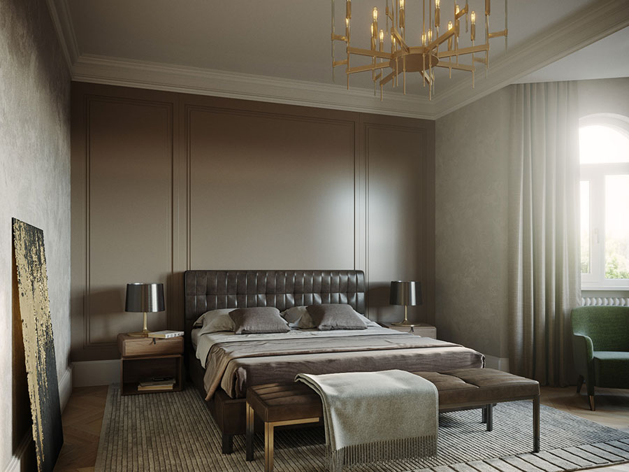 Camera da letto vintage moderna n.06