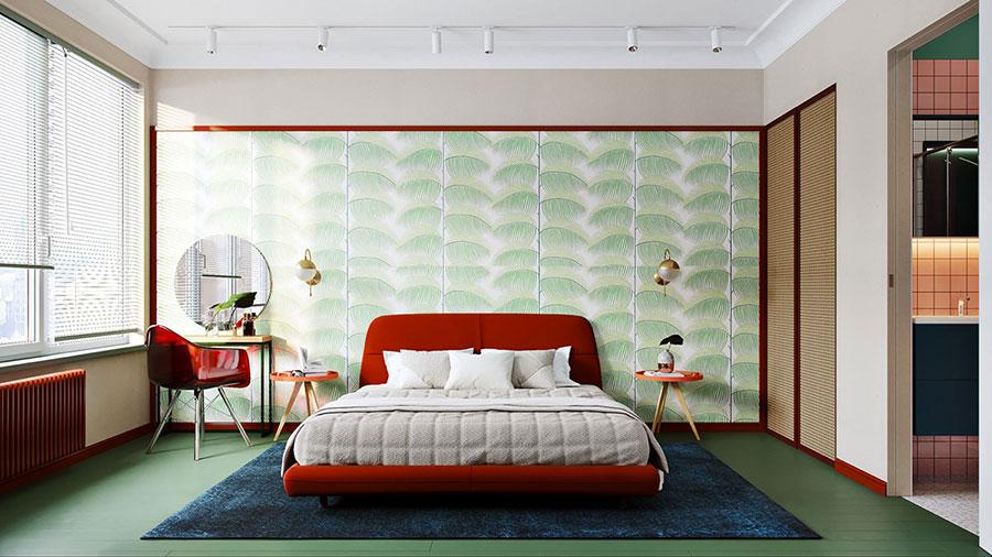 Camera da letto vintage moderna n.07