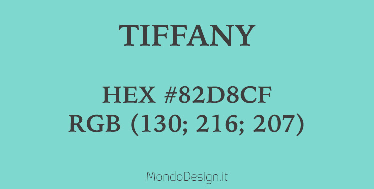 Identificativo colore Tiffany