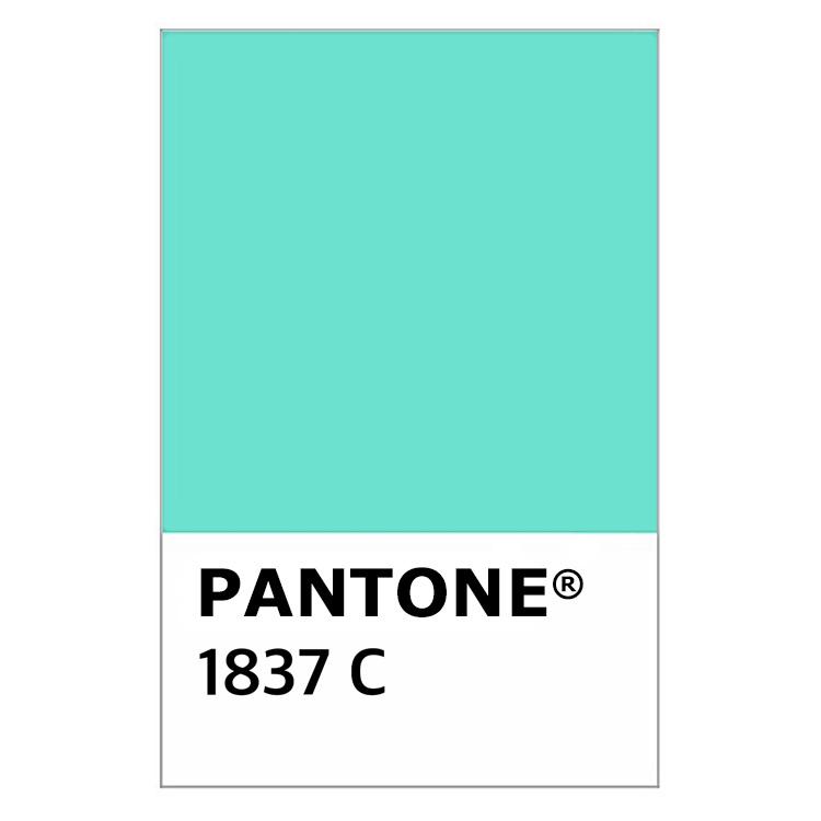 Colore Tiffany Pantone 1837C