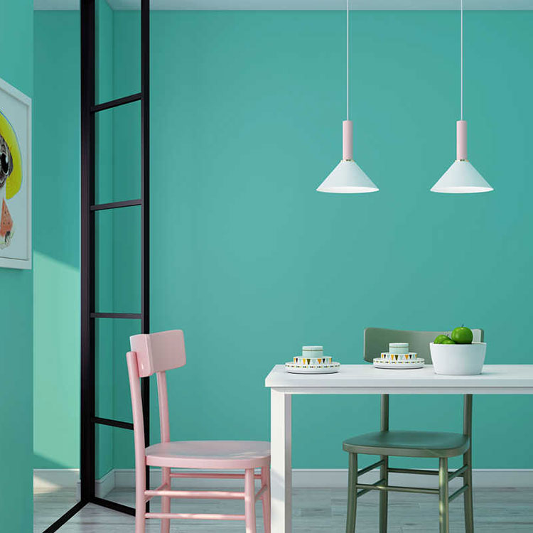 Idee per pareti color Tiffany n.04