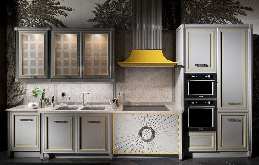 Modello di cucina classica moderna bianca n.01