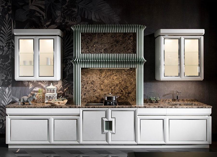 Modello di cucina classica moderna bianca n.02