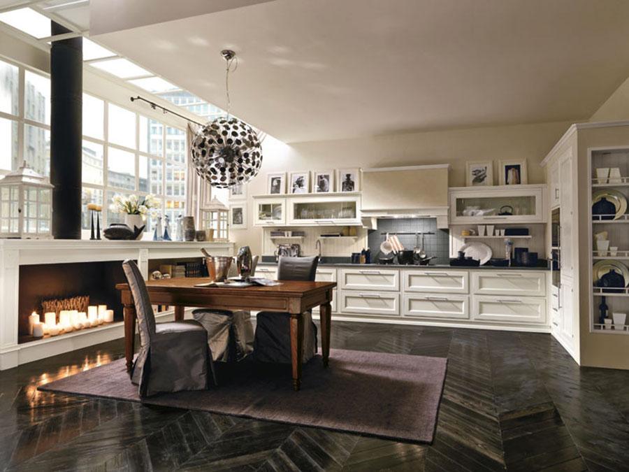 Modello di cucina classica moderna bianca n.03