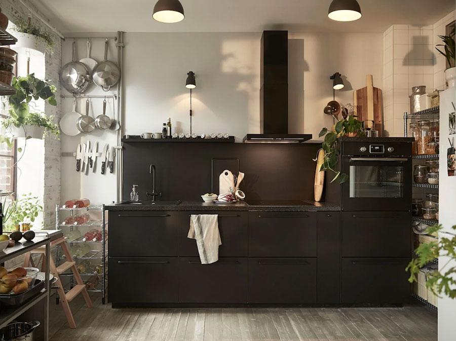Modello di cucina nera Ikea n.02