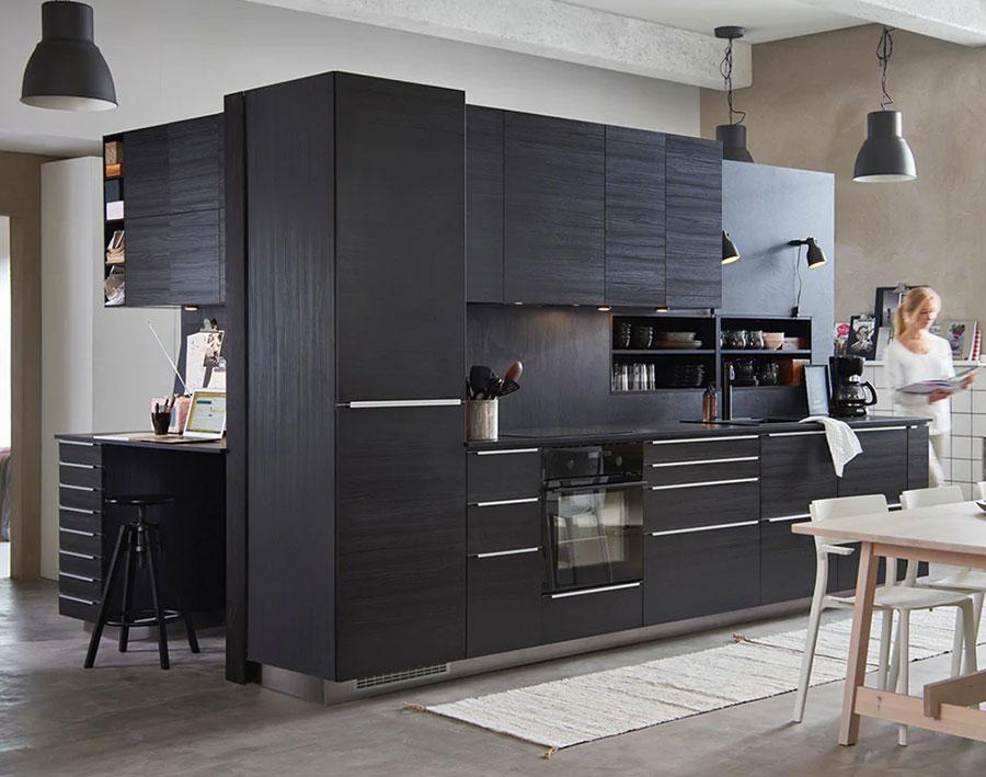 Modello di cucina nera Ikea n.03