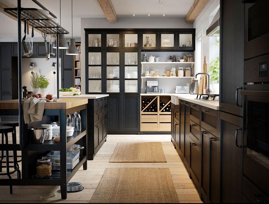 Modello di cucina nera Ikea n.05