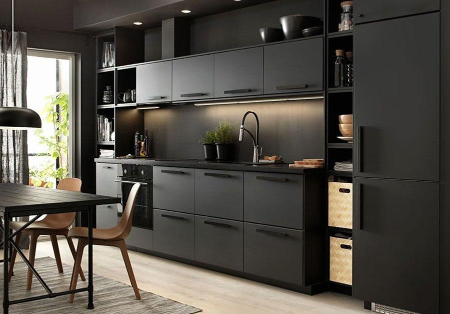 Modello di cucina nera Ikea n.06