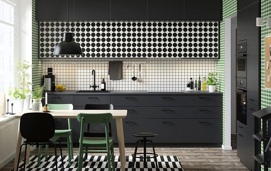 Modello di cucina nera Ikea n.07