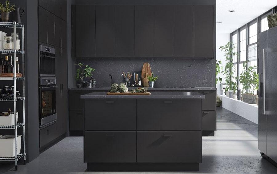 Modello di cucina nera Ikea n.08