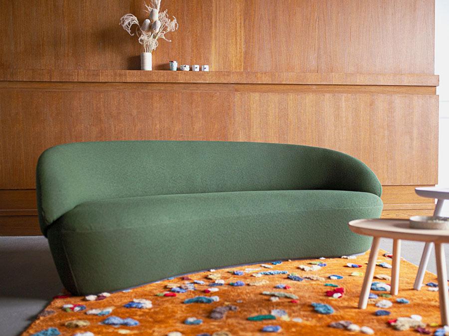 Modello di divano curvo piccolo n.01