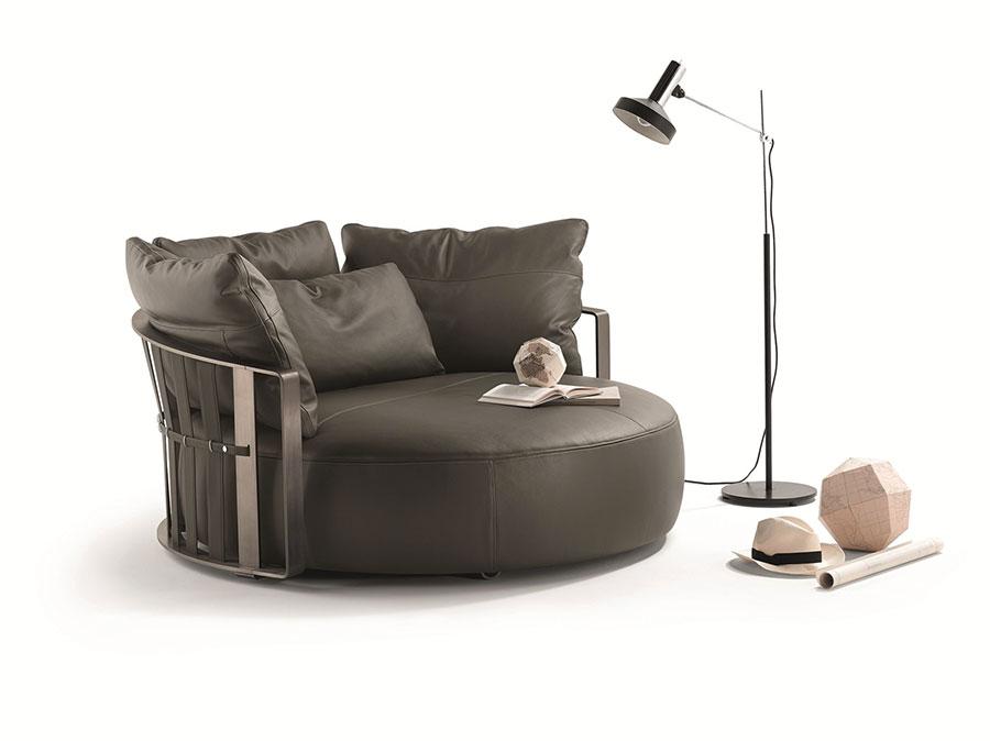 Modello di divano curvo piccolo n.03