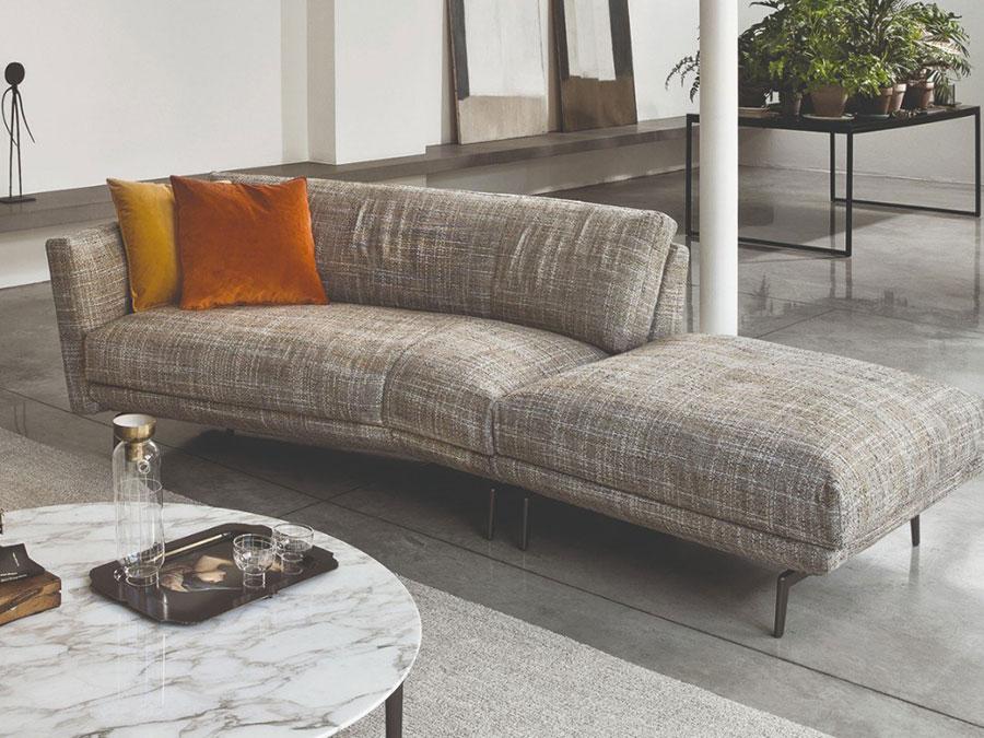 Modello di divano curvo piccolo n.04