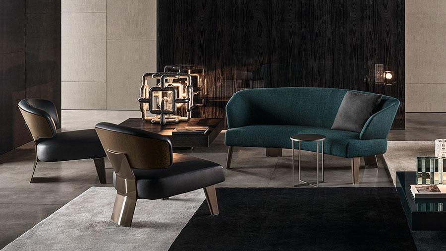 Modello di divano curvo piccolo n.05