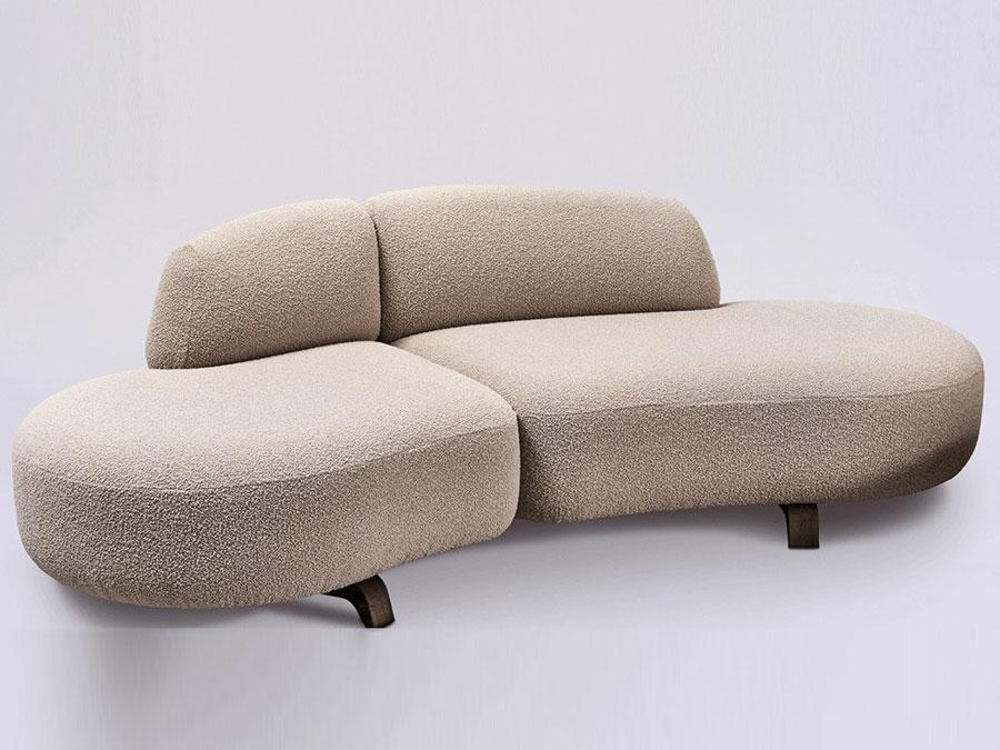Modello di divano curvo piccolo n.06