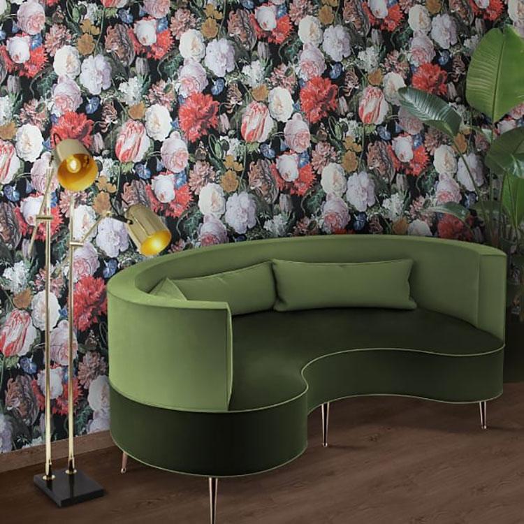 Modello di divano curvo piccolo n.07