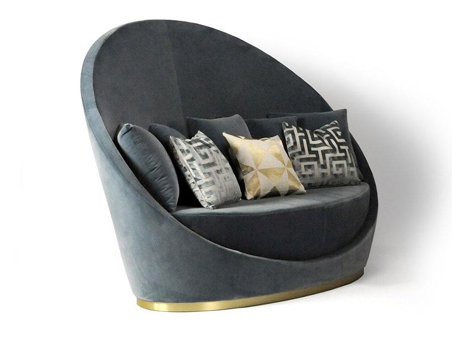 Modello di divano curvo piccolo n.09