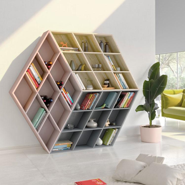 Modello Libreria a parete per il soggiorno Anesis 1