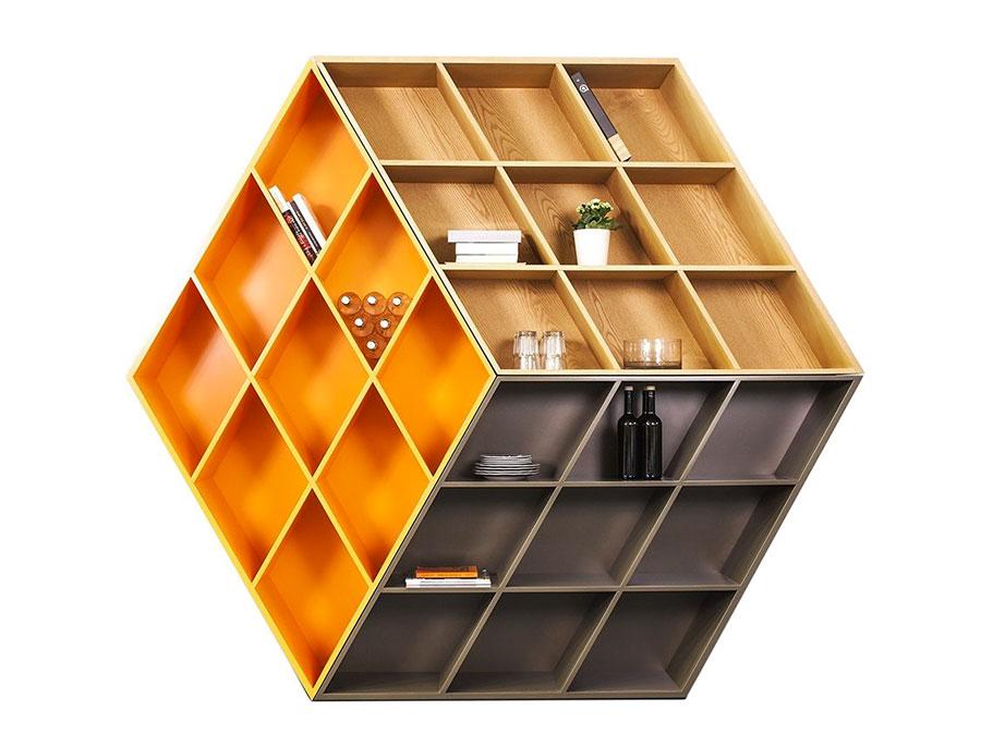 Modello Libreria a parete per il soggiorno Anesis 2