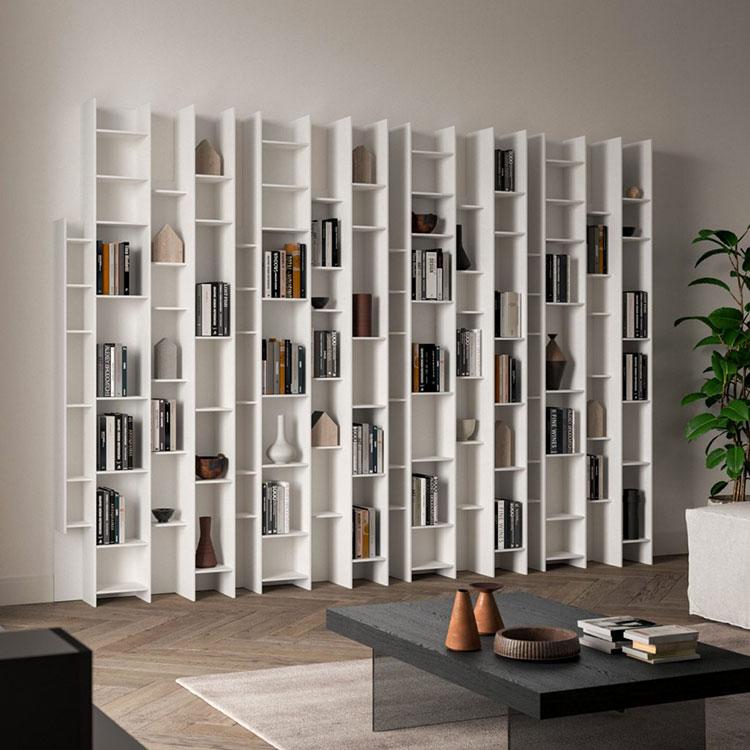 Libreria a parete per soggiorno Ozzio 01