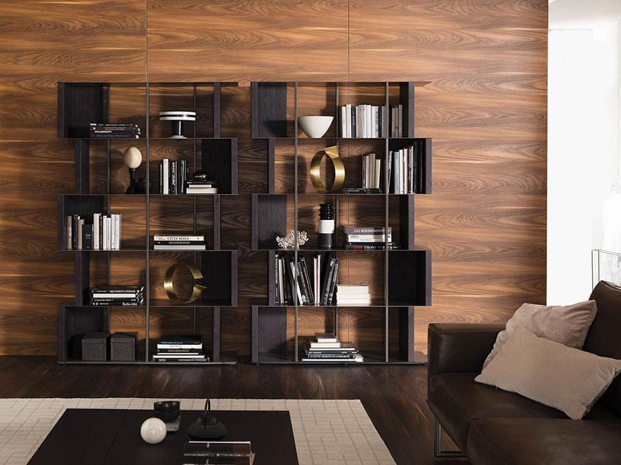 Libreria a parete per soggiorno Ozzio 02