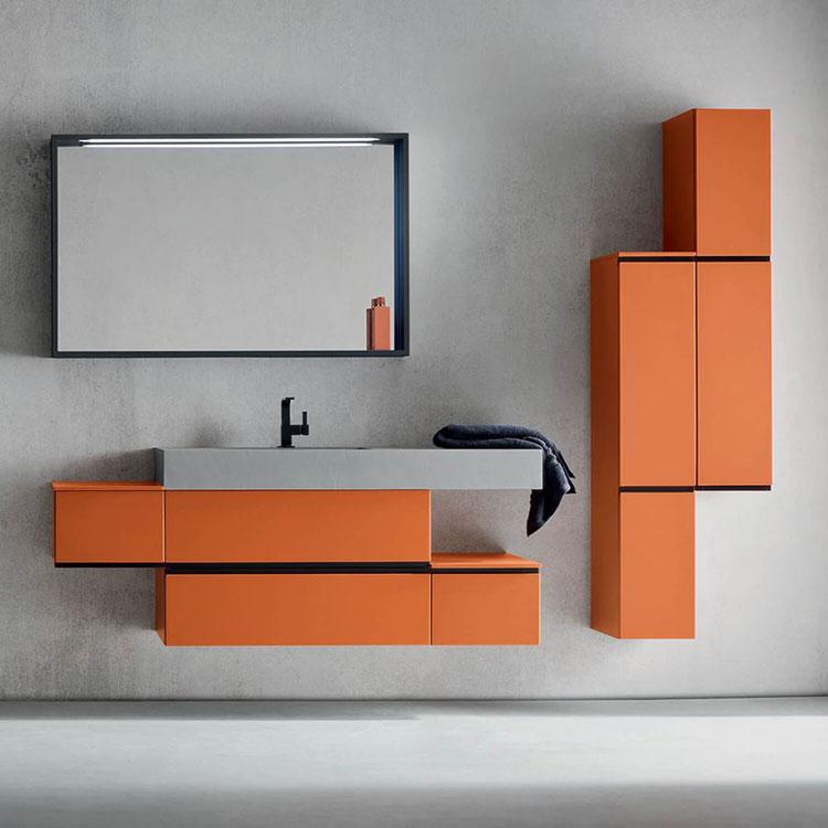 Mobiletto per bagno arancione n.01