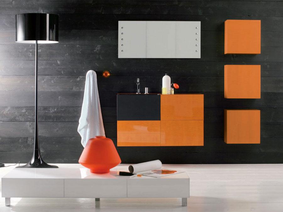 Mobiletto per bagno arancione n.02