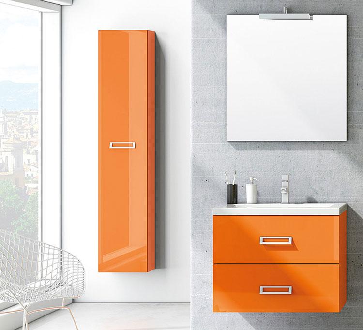 Mobiletto per bagno arancione n.03