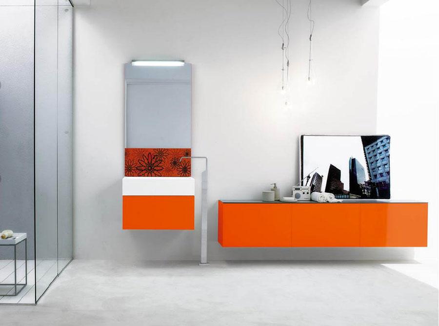 Mobiletto per bagno arancione n.04