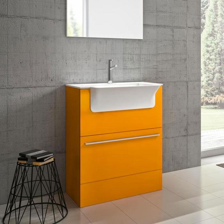 Mobiletto per bagno arancione n.05