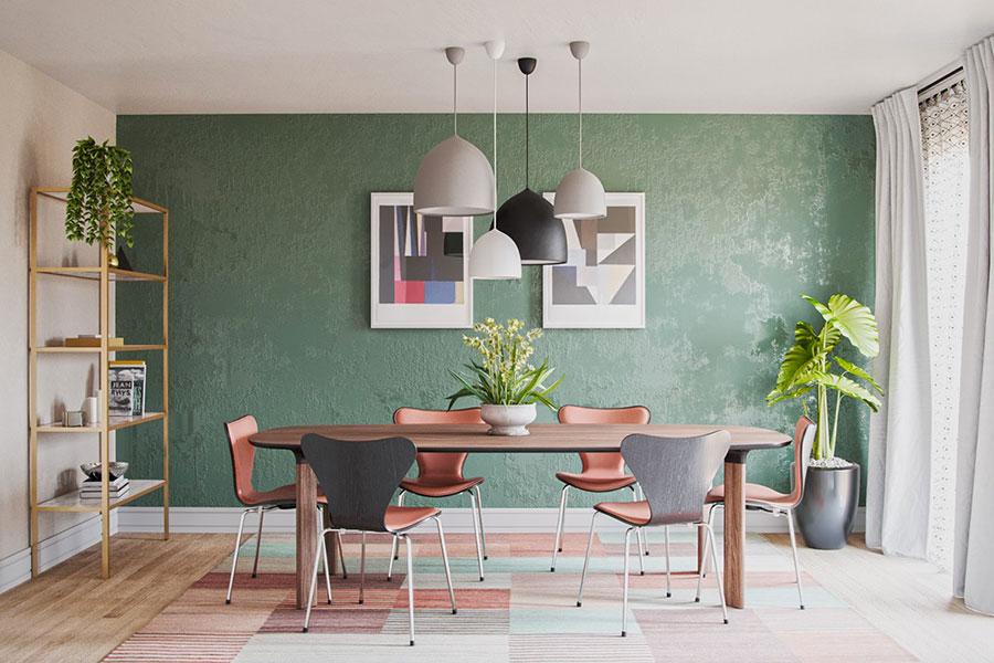 Idee per arredare una sala da pranzo in stile contemporaneo n.01